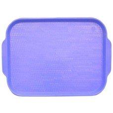 Поднос столовый из полистирола 450х355 мм голубой [1730]