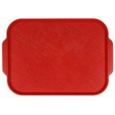 Поднос столовый из полистирола 450х355 мм красный [1730]