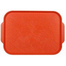 Поднос столовый из полистирола 450х355 мм оранжевый [1730]