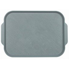Поднос столовый из полистирола 450х355 мм серый [1730]