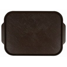 Поднос столовый из полистирола 450х355 мм темно-коричневый [1730]