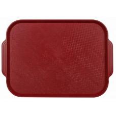 Поднос столовый из полистирола 450х355 мм темно-красный [1730]