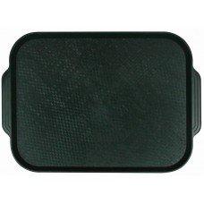 Поднос столовый из полистирола 450х355 мм темно-зеленый [1730]