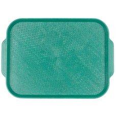 Поднос столовый из полистирола 450х355 мм зеленый [1730]