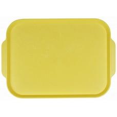 Поднос столовый из полистирола 450х355 мм желтый [1730]