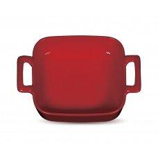 Форма для запекания «Corone» 130х130 мм с двумя ручками красная