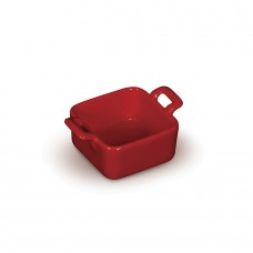 Форма для запекания с двумя ручками «Corone» 68х68 мм красная