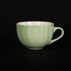 Чашка чайная 320 мл зеленая «Corone Natura»