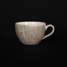 Чашка кофейная 95 мл серо-коричневая «Corone Natura»