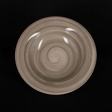 Тарелка для пасты 600 мл серо-коричневая «Corone Natura»