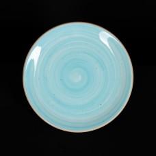 Тарелка мелкая 200 мм голубая «Corone Natura»