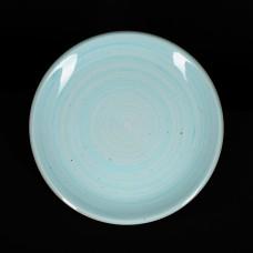 Тарелка мелкая 255 мм голубая «Corone Natura»
