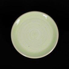 Тарелка мелкая 255 мм зеленая «Corone Natura»