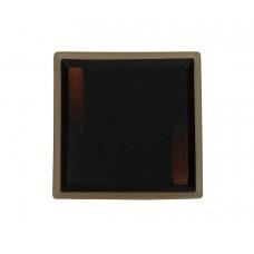 Тарелка квадратная «Corone Rustico» 200 мм черная с медным