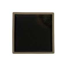 Тарелка квадратная «Corone Rustico» 200 мм черная с зеленым