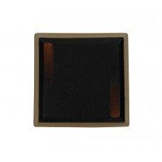 Тарелка квадратная «Corone Rustico» 260х260мм черная с медным