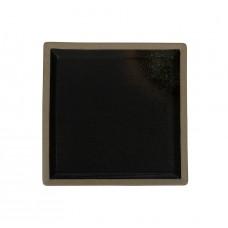 Тарелка квадратная «Corone Rustico» 260х260мм черная с зеленым