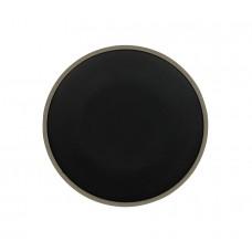Тарелка мелкая «Corone Rustico» 210 мм бежевая с черным