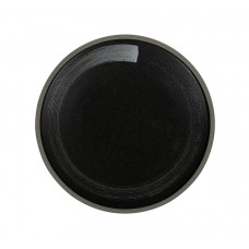 Тарелка мелкая «Corone Rustico» 210 мм черная с белым