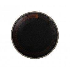 Тарелка мелкая «Corone Rustico» 210 мм черная с медным