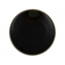 Тарелка мелкая «Corone Rustico» 210 мм черная с зеленым