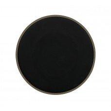 Тарелка мелкая «Corone Rustico» 260 мм бежевая с черным