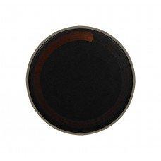 Тарелка мелкая «Corone Rustico» 260 мм черная с медным
