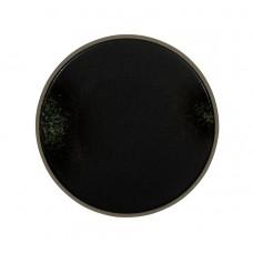 Тарелка мелкая «Corone Rustico» 260 мм черная с зеленым