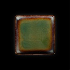 Тарелка квадратная «Corone Verde» 212х212 мм синий+зеленый
