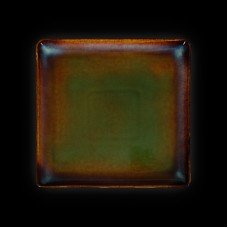 Тарелка квадратная «Corone Verde» 232х232 мм синий+зеленый