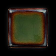 Тарелка квадратная «Corone Verde» 270х270 мм синий+зеленый