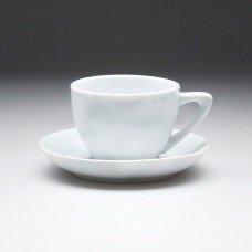 Чайная пара с круглым блюдцем «Collage» 210 мл