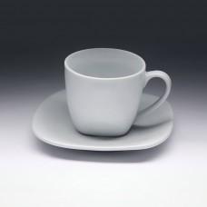 Чайная пара с квадратным блюдцем «Collage» 220 мл