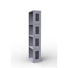 Шкаф металлический для сумок ШР-14 L300 300/500/1850 перфорированные двери.  доп. секция