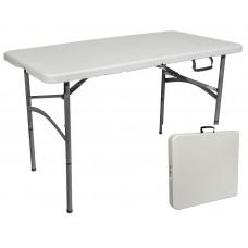 Стол пластиковый со складной столешницей 1220х610 мм (чемодан)