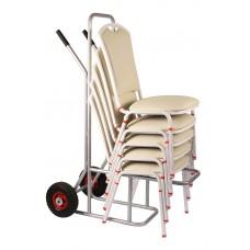 Тележка для банкетных стульев, каркас серый
