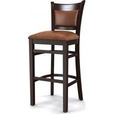 Стул барный «Честер» с мягким сиденьем (деревянный каркас)