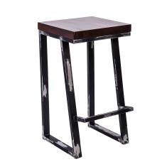 Стул барный лофт «Тородд» с жестким сиденьем (окрашенный каркас)