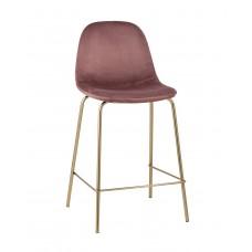 Стул полубарный «Айриш велюр» с мягким сиденьем (хромированный каркас)