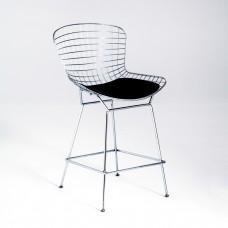Стул полубарный «Бормио» с мягким сиденьем (хромированный каркас)