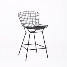 Стул полубарный «Бормио» с мягким сиденьем (ножки стальные)