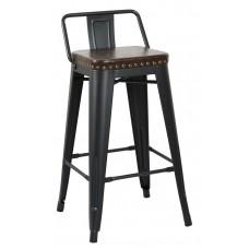 Стул полубарный «TOLIX Soft со спинкой» с мягким сиденьем (стальной каркас)