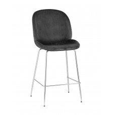 Стул полубарный «Тунис со спинкой» с мягким сиденьем (хромированный каркас)