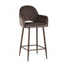 Стул полубарный «Веспер с простежкой» с мягким сиденьем (ножки стальные)