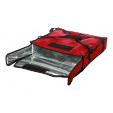 Термосумка на 2 пиццы 450х450х100 мм фольгированная красная без вентиляции