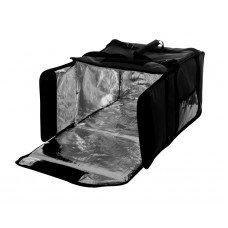 Термосумка на 5-6 пицц 420х420х300 мм фольгированная большая черная с вентиляцией