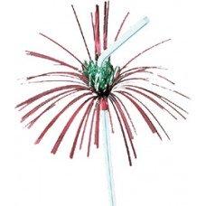 Трубочки  без сгиба разноцветные «Пальма с цветочком» 240 мм 50 шт [6040402]
