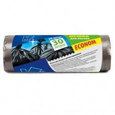 Пакет для мусора 30 л в рулонах, ПНД 50х60 см [PRO933C]