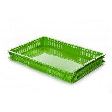 Ящик 600х400х75 мм перфорированные бока сплошное дно, для полуфабрикатов, ПЭНД [ЯП 1.2]