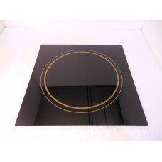 Стекло термостойкое 340х340х4 мм (черное) к плите Luxstahl